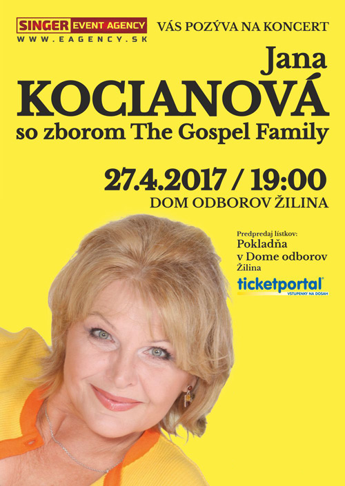 picture Jana Kocianova so zborom The Gospel Family