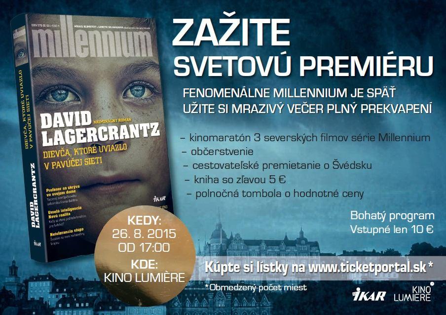picture Stieg Larsson: Millennium, zažite svetovú premiéru