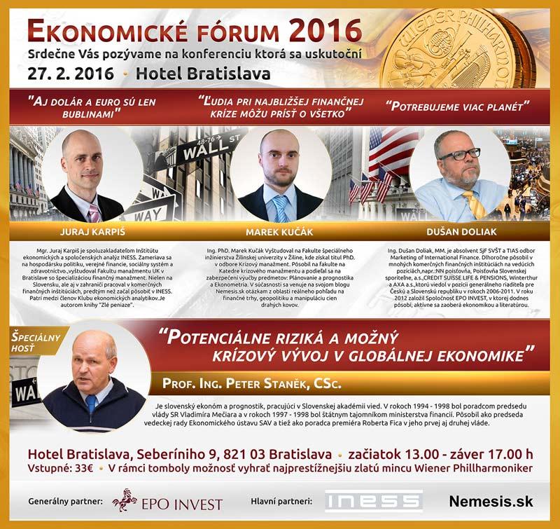 picture Ekonomické Fórum 2016
