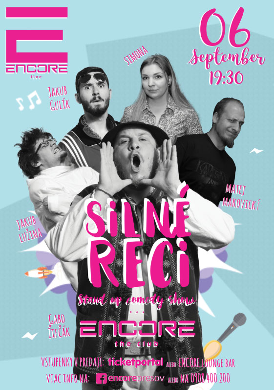 picture Silné reči v ENCORE the club v Prešove