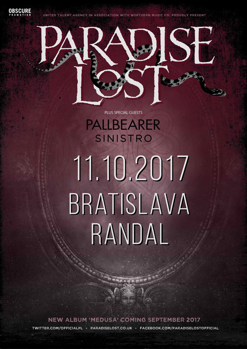 picture PARADISE LOST(UK) + PALLBEARER(USA) + SINISTRO(PT)