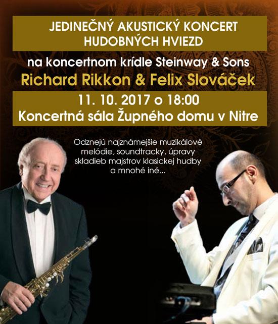 picture Koncert hviezd Richard Rikkon & Felix Slováček