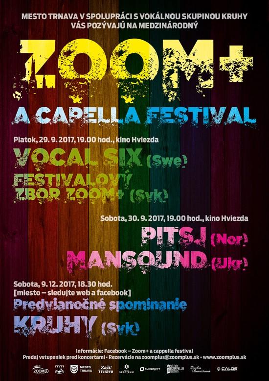 picture Medzinárodný a cappella festival ZooM+ 2017