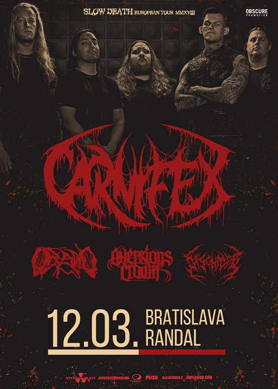 picture CARNIFEX + OCEANO + AVERSIONS CROWN + DISENTOMB