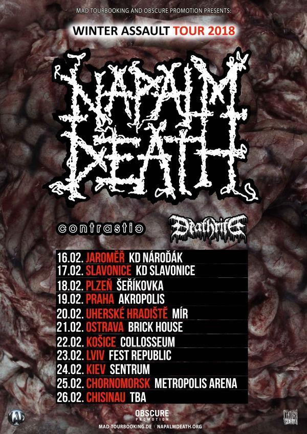 picture NAPALM DEATH(UK) + CONTRASTIC(CZ) + DEATHRITE(GER)