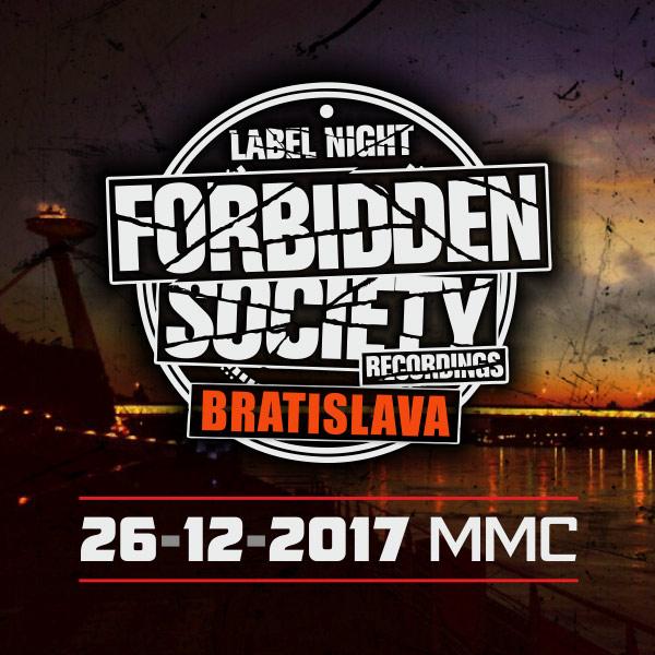 picture FORBIDDEN SOCIETY Label Night Bratislava