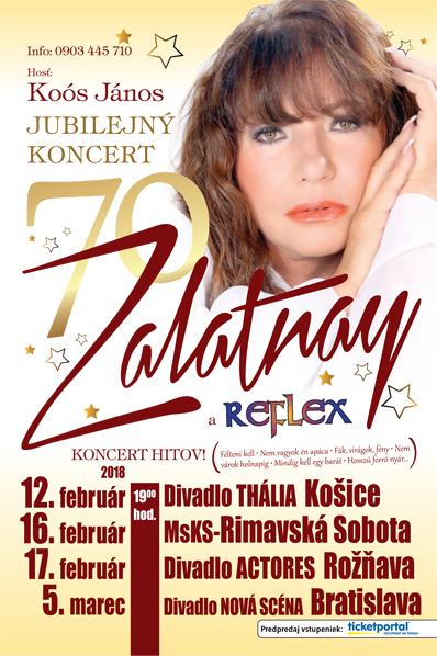 picture Zalatnay 70 !  Jubilejný Megakoncert