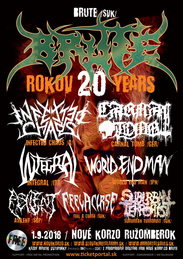 picture BRUTE 20th ANNIVERSARY - DEATH METAL FESTIVAL