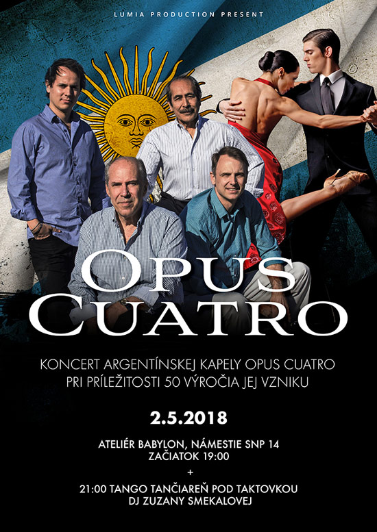 picture Argentínsky večer s Opus Cuatro