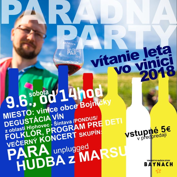 picture Vítanie Leta vo vinici 2018 - PARADNA PARTY