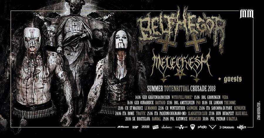 picture Belphegor / Melechesh Summer Totenritual Crusade
