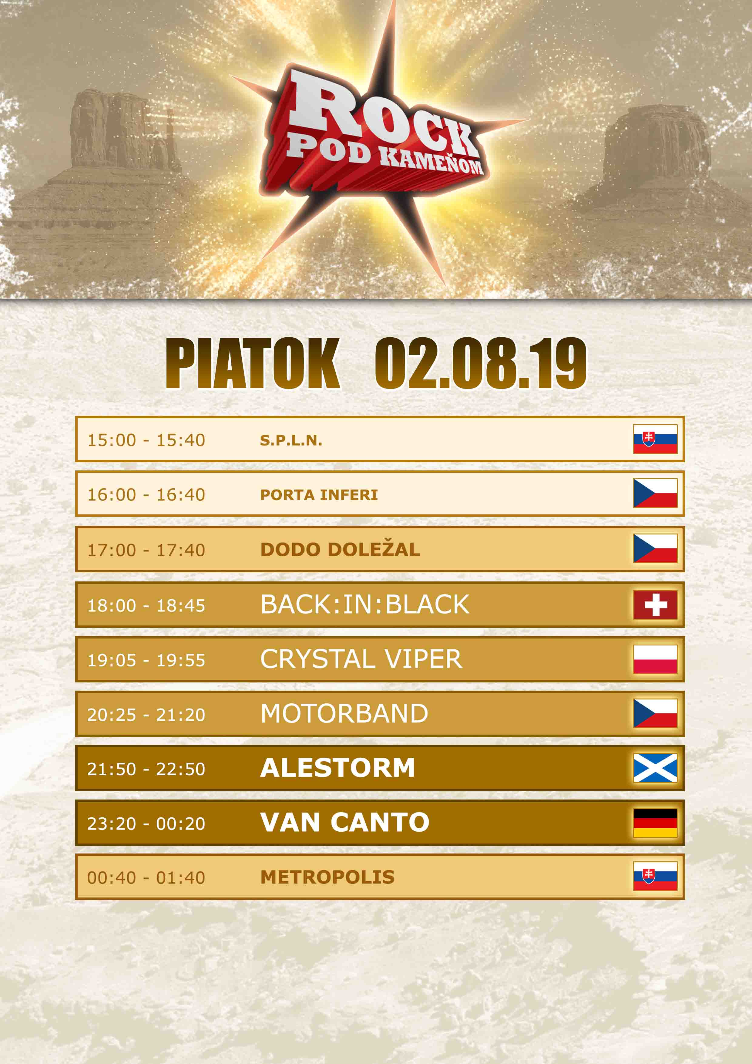 picture ROCK POD KAMEŇOM / Snina Open Air Festival