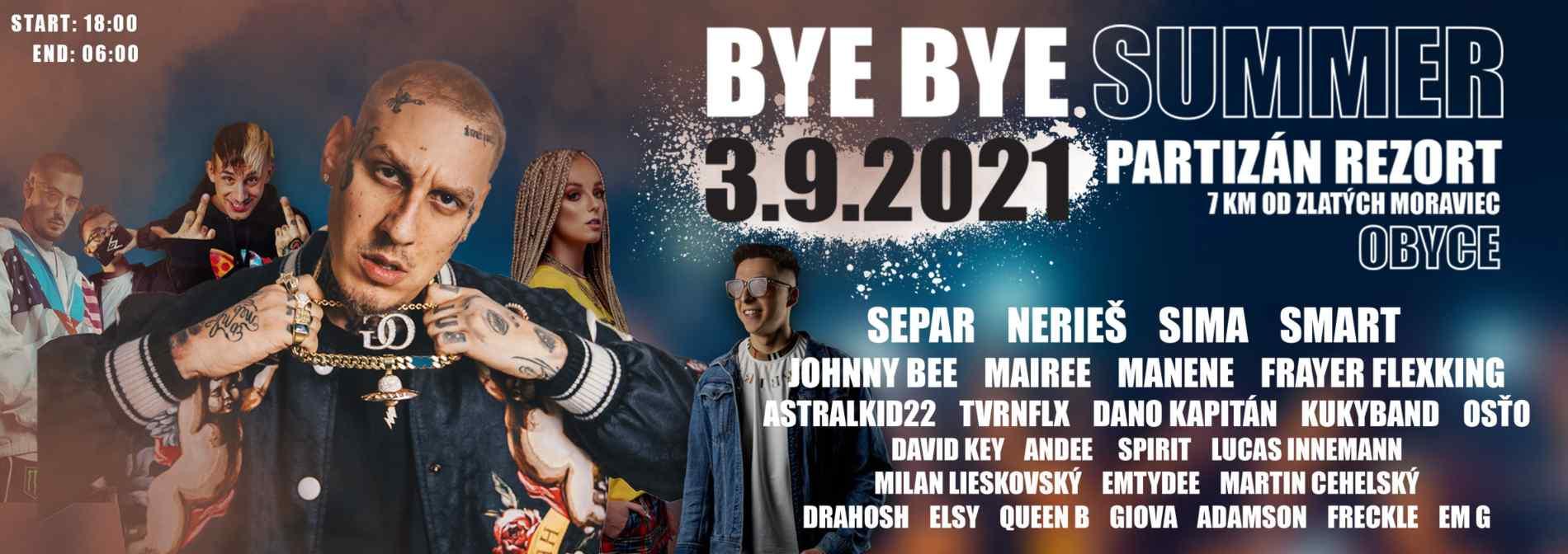 picture BYE BYE SUMMER- SEPAR OG TOUR - SIMA - JOHNNY BEE