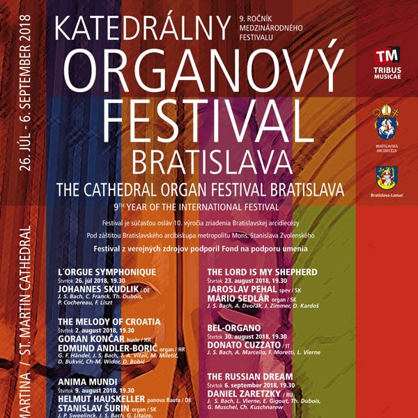 KATEDRÁLNY ORGANOVÝ FESTIVAL BRATISLAVA 2018