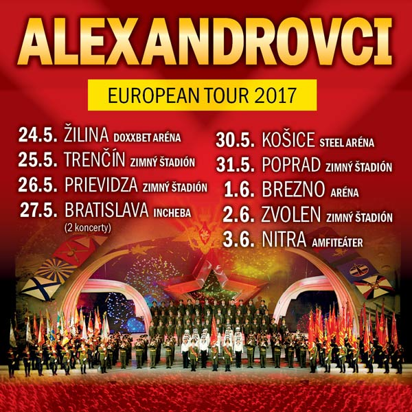 ALEXANDROVCI - EUROPEAN TOUR 2017
