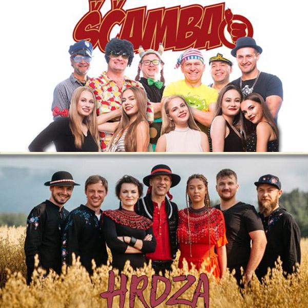 Koncertné vystúpenie skupín Ščamba a Hrdza
