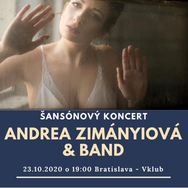 Andrea Zimányiová & Band - Šansónový koncert