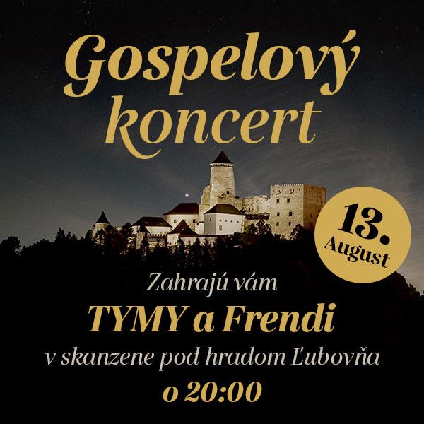 Gospelový koncert dvoch skupín TYMY a FRENDI