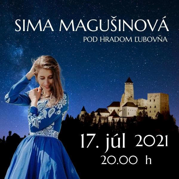 Sima Magušinová pod hradom Ľubovňa