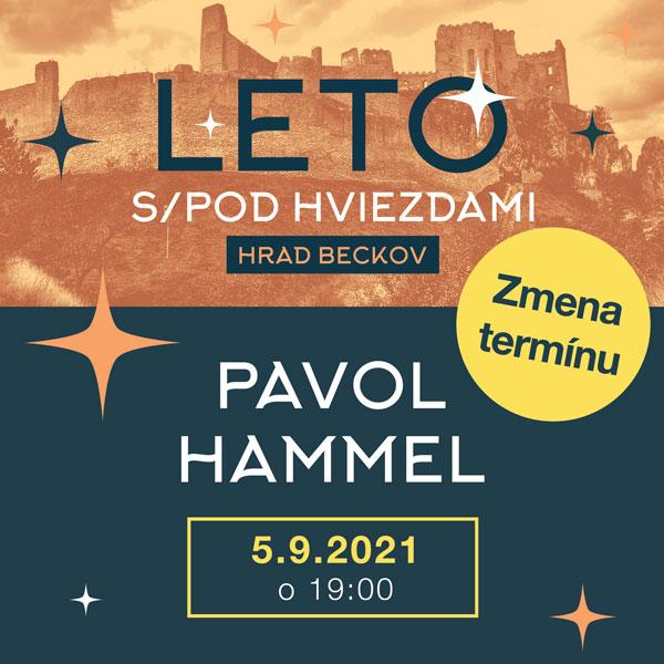 Leto s/pod hviezdami: PAVOL HAMMEL