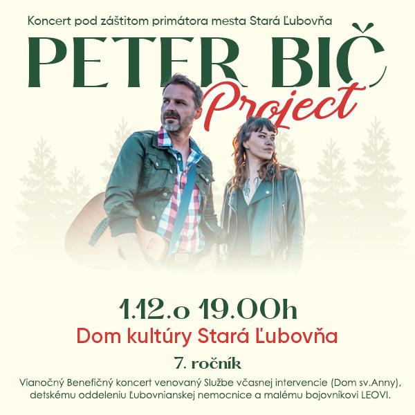 Vianocný benefičný koncert Peter Bič Project