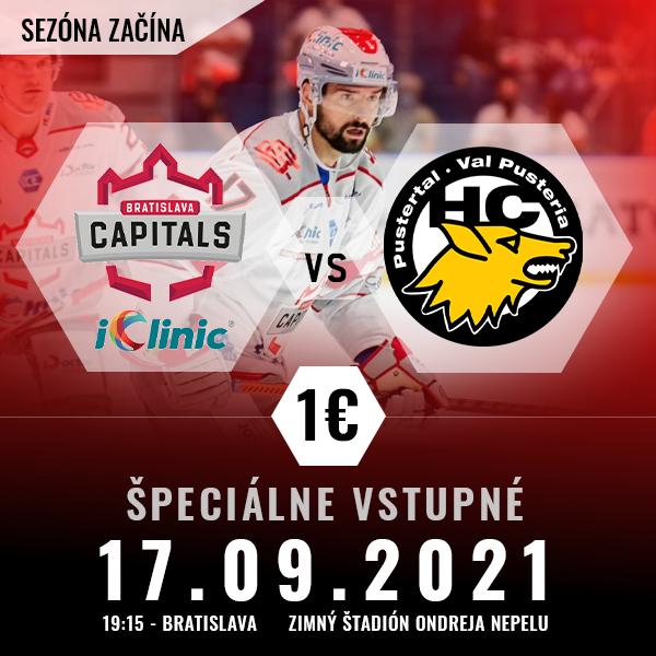 iClinic Bratislava Capitals vs HC Pustertal