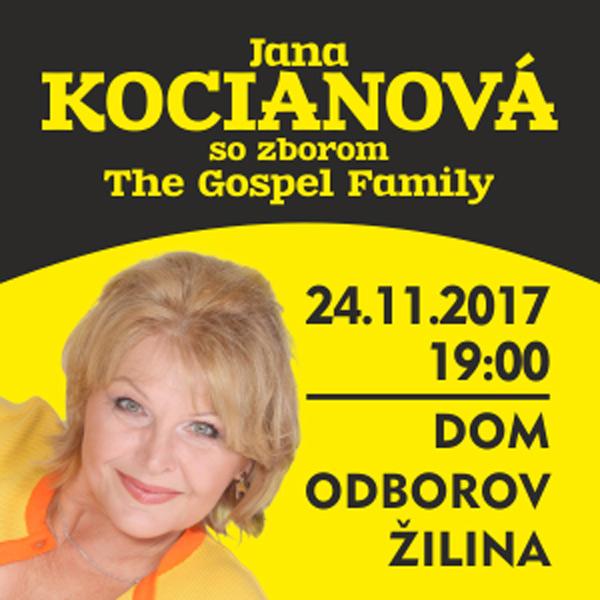 Jana Kocianova so zborom The Gospel Family