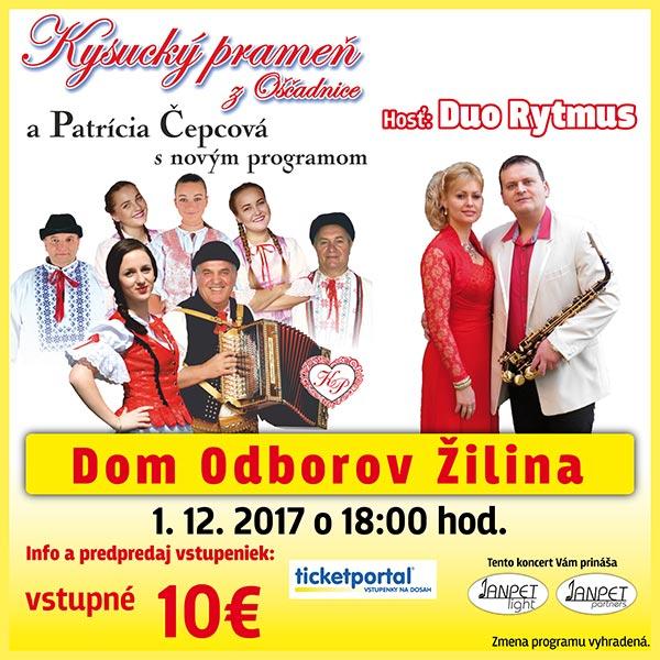 Koncert Kysucký prameň ahosť Duo Rytmus