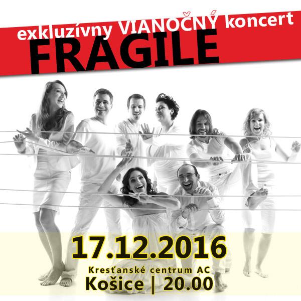 FRAGILE - exkluzívny vianočný koncert