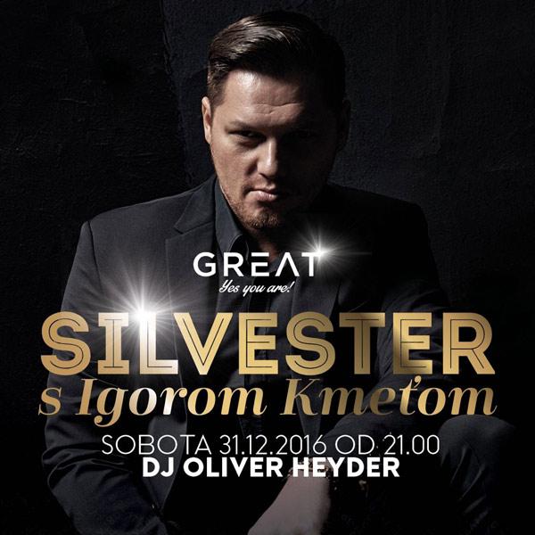 Silvester s Igorom Kmeťom iba v Great clube