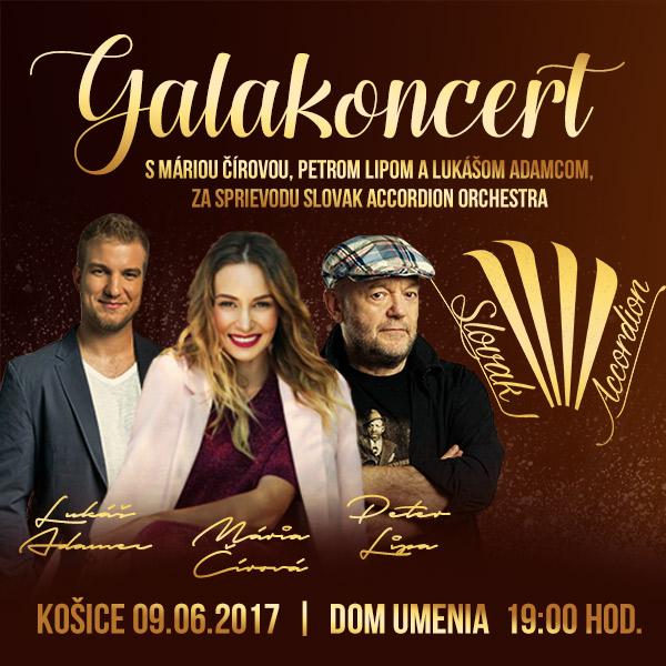 Gala s Máriou Čírovou, Petrom Lipom, Lukim Adamcom