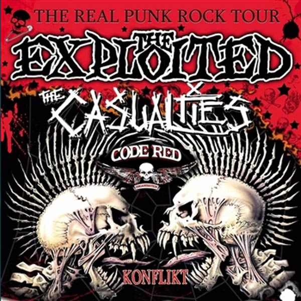 The Exploited, The Casualties, Code Red, Konflikt