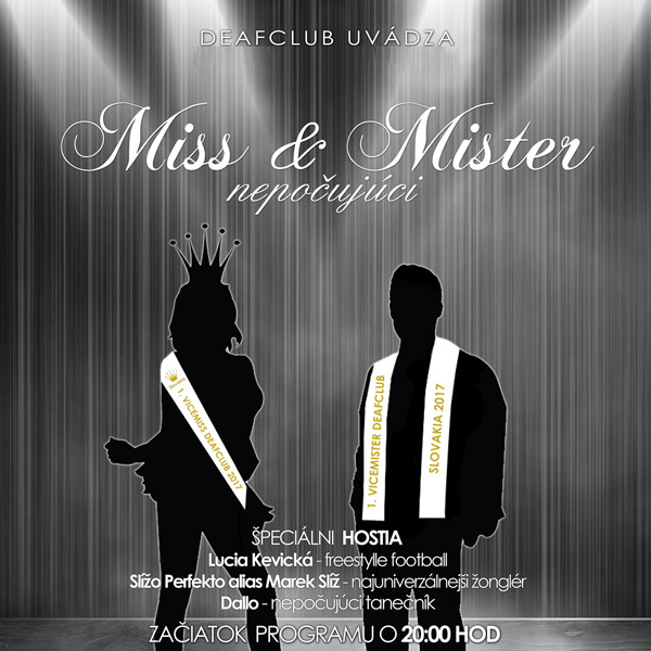 Miss a mister Deafclub 2017