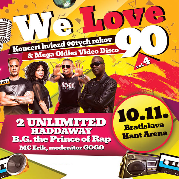 We Love 90, vol.4, 2 Unlimited, Haddaway ...