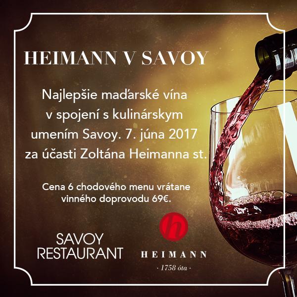 Heimann v Savoy - gastronomický zážitok #2