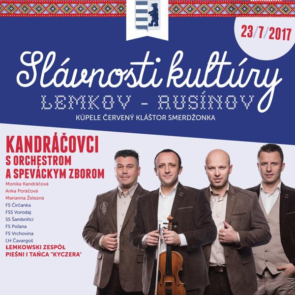 Slávnosti kultúry Lemkov - Rusínov 2017