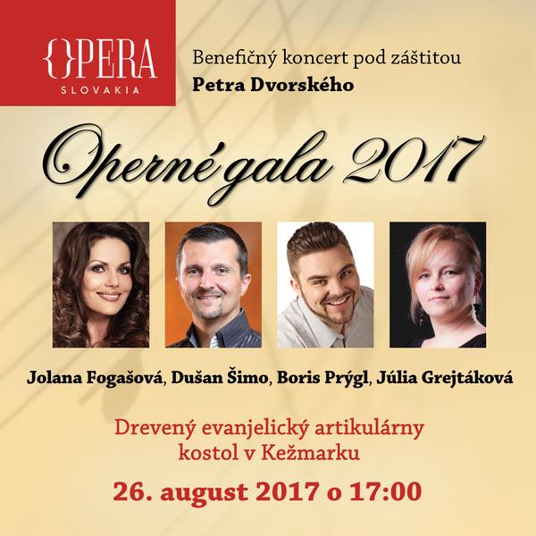 Operné gala v Kežmarku 2017