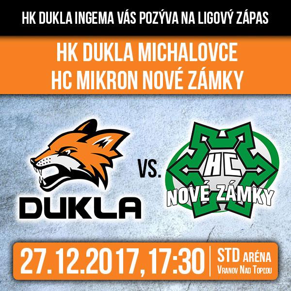 HK DUKLA INGEMA Michalovce -HC Mikron Nové Zámky B