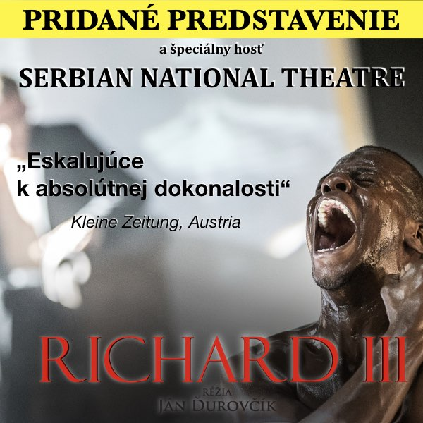 Richard III. + hosť: Serbian National Theatre