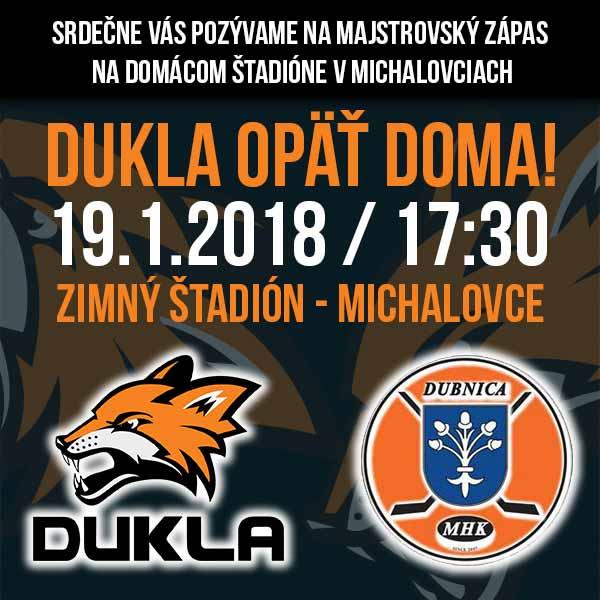 HK DUKLA INGEMA Michalovce - MHK Dubnica nad Váhom