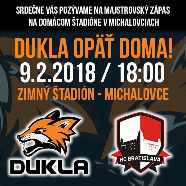HK DUKLA INGEMA Michalovce - HC OSMOS Bratislava