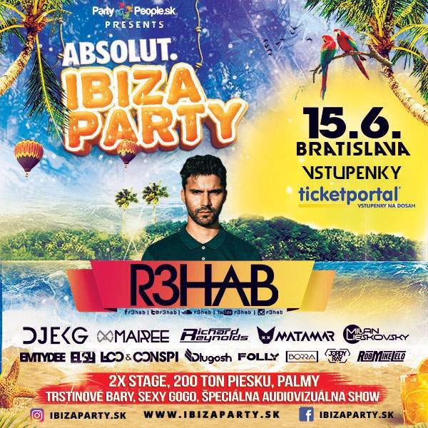 IBIZA PARTY 2018 open air, R3HAB, EKG, MAIREE