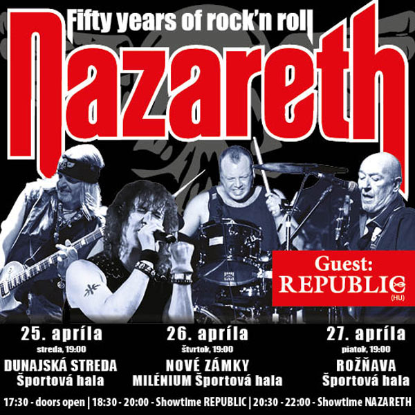 NAZARETH 50 YEARS OF ROCK´N´ROLL