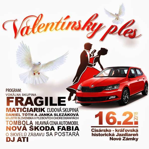 Valentínsky ples (Historická Jazdiareň, N. Zámky)