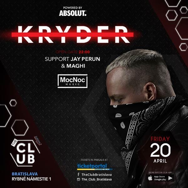 KRYDER v The Club Bratislava