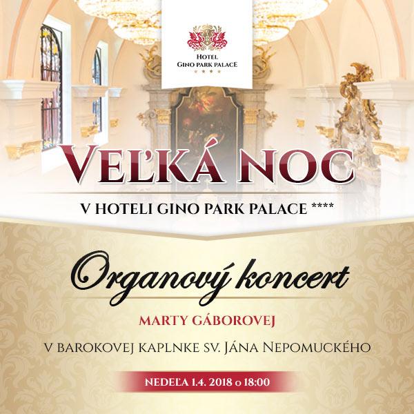 Organový koncert v kaplnke Gino Park Palace