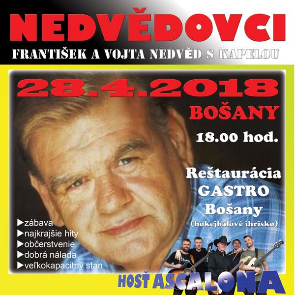 Nedvědovci v Bošanoch-František Nedvěd 70 + hostia