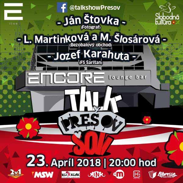 Talkshow Prešov XVII.