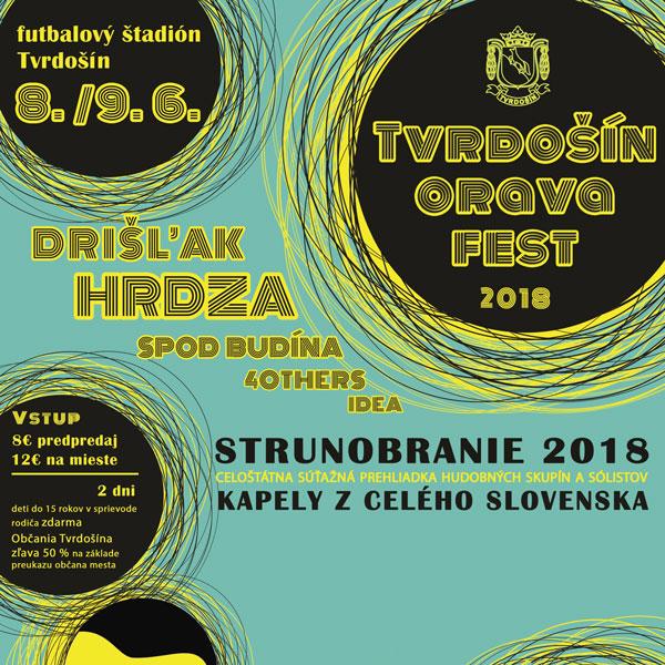 Tvrdošín Orava Fest 2018 a Strunobranie 2018