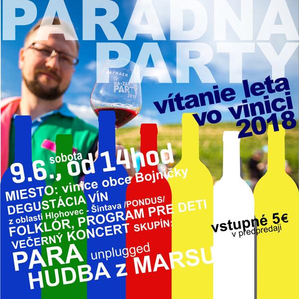 Vítanie Leta vo vinici 2018 - PARADNA PARTY